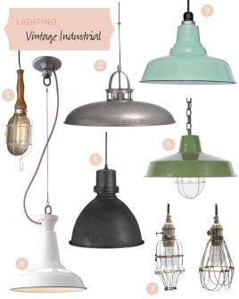 http://makingitlovely.com/2012/03/19/vintage-industrial-lighting/